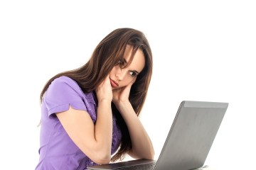 Woman Girl Work Fatigue Computer Office