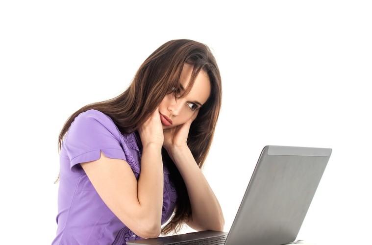 Woman Girl Work Fatigue Computer Office