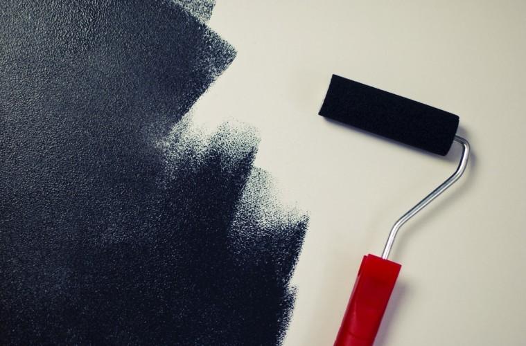 painting-black-paint-roller